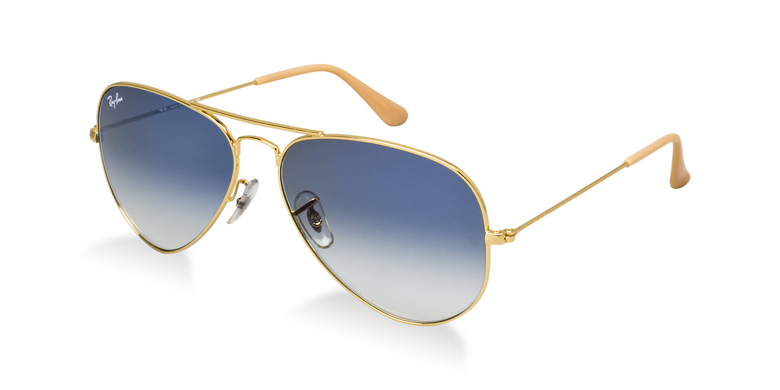 Okulary Ray Ban  3025 Aviator Large Metal Arista / Gradient Light Blue Orb3025-001/3F (1)