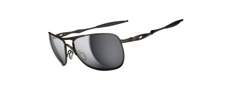 Okulary OAKLEY TITANIUM CROSSHAIR Pewter / Black Iridium Polarized oo6014-02