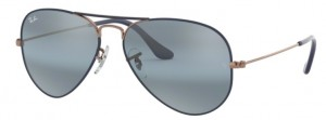 3025 AVIATOR / Copper on Matte Blue / Blue Mirror Grey / ORB3025-9156AJ