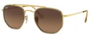 Okulary RAY BAN 3648M MARSHAL II Gold / Brown Gradient Grey ORB3648M-912443