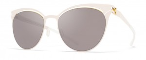 Okulary MYKITA CARA Champagne Gold Aurore / Dark Purple Flash C283