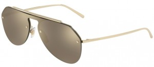 Okulary DOLCE & GABBANA 2213 Pale Gold / Light Brown Mirror Gold DG2213-488/5A