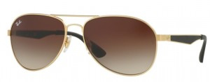 Okulary RAY BAN 3549 Matte Gold / Brown Gradient ORB3549-112/13