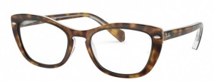 Oprawki RAY-BAN 5366 Top Havana on Transparent ORX5366-5082