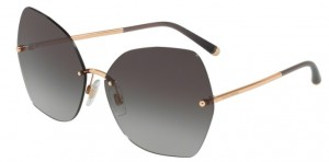 Okulary DOLCE & GABBANA 2204 Pink Gold / Light Grey Gradient Black DG2204-12988G