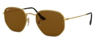 Okulary RAY BAN 3548N Gold / Polarized Brown ORB3548N-001/57