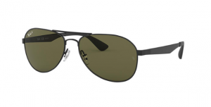 Okulary RAY BAN 3549 Matte Black / Polarized Green ORB3549-006/9A