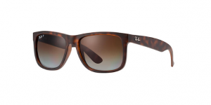 RAY BAN JUSTIN Havana Rubber / Polarized Brown Grad ORB4165-865/T5