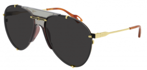 Okulary Gold / Grey Gucci GG0740S-001