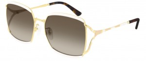 Okulary Gucci Ivory / Brown Gradient GG0593SK-003