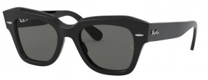 Okulary RAY BAN STATE STREET Black / Green Polarized RB2186-901/58