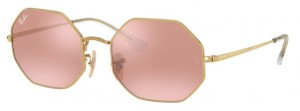 Okulary RAY BAN OCTAGON Shiny Gold / Photo Pink Mirror Grey 0RB1972-001/3E