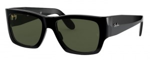 Okulary RAY BAN WAYFARER NOMAD Shiny Black /  Green ORB2187-901/31