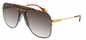 Okulary Gold / Brown Gradient Gucci GG0739S-002