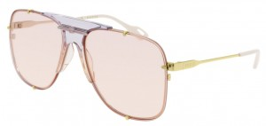 Okulary Gold / Pink Gucci GG0739S-004