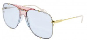 Okulary Gold / Light Blue Gradient Gucci GG0739S-005