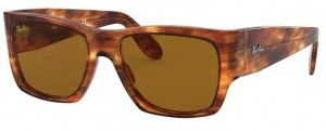 Okulary RAY BAN WAYFARER NOMAD Striped Havana /  Brown ORB2187-954/33