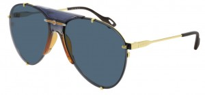 Okulary Gold / Blue Gucci GG0740S-002
