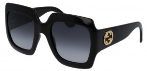 Okulary Black / Grey Gradient Gucci GG0053S-001