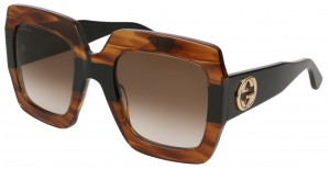 Okulary Havana / Brown Gradient Gucci GG0178S-004