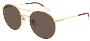 Okulary Gucci Gold / Brown GG0680S-003