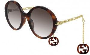 Okulary Havana / Brown Gradient Gucci GG0726S-002