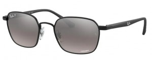 Okulary RAY BAN 3664CH Black / Grey Mirror Silver Polarized ORB3664CH-002/5J