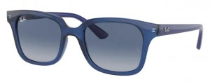 Okulary RAY BAN JUNIOR 9071S Transparent Blue / Light Grey Gradient Dark Blue ORJ9071S-70624L