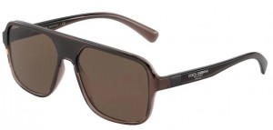 Okulary DOLCE GABBANA 6134 TRANSPARENT BROWN/BLACK DG6134-325973