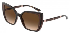 Okulary DOLCE GABBANA 6138 HAVANA ON TRANSPARENT BROWN DG6138-318513