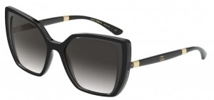 Okulary DOLCE GABBANA 6138 BLACK ON TRANSPARENT GREY DG6138-32468G