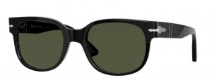 Okulary PERSOL Black/Green PO3257S-95/31