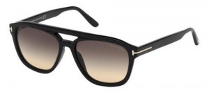 Okulary Tom Ford Shiny Black / Grey Gradient FT0776-01B