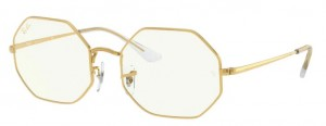 Okulary RAY BAN OCTAGON LEGEND GOLD / Clear Blue Light Filter 0RB1972-9196BF
