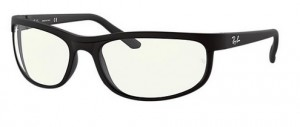 Okulary RAY BAN PREDATOR 2 Matte Black / Clear Blue Light Filter 0RB2027-601SBF (1)