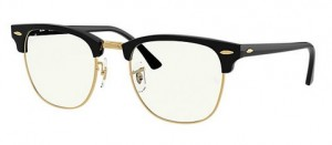 Okulary RAY BAN CLUBMASTER Black / Clear Blue 0RB3016-901/BF