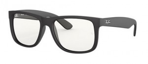 Okulary RAY BAN JUSTIN Rubber Black / Clear ORB4165-622/5X