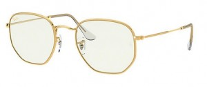 Okulary RAY BAN 3548 Legend Gold / Clear Blue Light Fliter ORB3548-9196BL