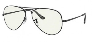 Okulary RAY BAN AVIATOR METAL II Black / Clear Blue Light Filter ORB3689-9148BF