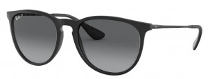 Okulary RAY BAN 4171 ERIKA Black Rubber / Light Grey Gradient Polarized ORB4171-622/T3