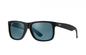 RAY BAN JUSTIN Black Rubber / Dark Blue Polar ORB4165-622/2V