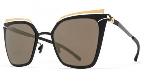 Okulary MYKITA KENDALL Gold Jet Black / Brilliant Grey Solid C167