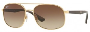 Okulary RAY BAN 3593 Gold / Brown Gradient ORB3593-001/13