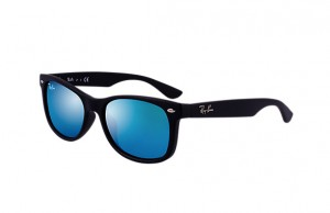 Okulary RAY BAN JUNIOR 9052S Matte Black / Blue Mirror ORJ9052S-100s/55