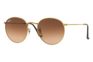 RAY BAN ROUND METAL Shiny Bronze / Pink Grad. Brown ORB3447-9001A5