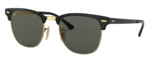 RAY BAN CLUBMASTER METAL Gold Black / Polar Green ORB3716-187/58