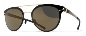 Okulary MYKITA DASH Gold / Jet Black - Brilliant Grey Solid C167