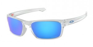 Okulary OAKLEY SLIVER STEALTH Matte Clear / Prizm Sapphire Iridium oo9408-04