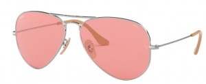 Okulary RAY BAN 3025 AVIATOR LARGE METAL Silver / Pink ORB3025-9065V7