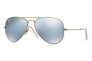3025 AVIATOR LARGE Matte Gold / Dark Grey Polarized / ORB3025-112/W3